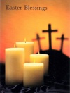 Easter Cards - Easter Blessing, Candles with Crosses  (Pack of 5)