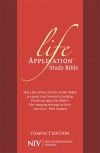 NIV Compact Life Application Study Bible, Anglicised Red Soft Tone
