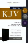 KJV Compact Reference Large Print with Snapflap, Black Leather-Look