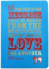 Biblical Notebook Turquoise, Love One Another