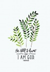 Card - Be Still and Know that I Am God - Psalm 46 vs 10 - BKCA6