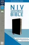 NIV Thinline Comfort Print Bible, Black Bonded Leather