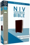 NIV Thinline Comfort Print Bible, Burgundy Bonded Leather