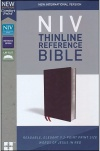 NIV Comfort Print Thinline Reference Bible, Burgundy Bonded Leather