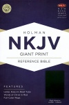 NKJV Giant Print Reference, Black Imitation Leather, Thumb-indexed