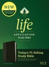 NLT Life Application Study Bible, Third Edition, Leather-look, Black/Onyx