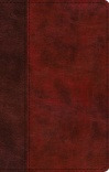 ESV Large Print Thinline Bible, Burgundy / Red, TruTone