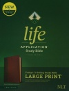 NLT Life Application Large-Print Study Bible, Third Edition Brown/Tan Leatherlike