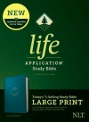 NLT Life Application Large-Print Study Bible, Third Edition Teal, Leatherlike
