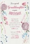 Trifold Birthday Card - For a Special Granddaughter - ICG 33271
