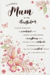Birthday Card - For A Wonderful Mum on Your Birthday by ICG JJ8204