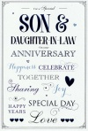Anniversary Card - For A Special Son and Daughter-In-Law - ICG JJ7079
