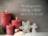 Christmas Cards - Red Candles - Pack of 10 - CMS - D2006