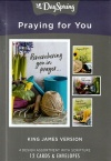 Cards, Praying for You, KJV Verses, Box of 12
