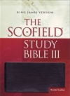 KJV Scofield Study Bible 3rd Edit  thiumb index  Black  Bonded Leather