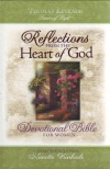 NKJV Reflections Devotional Bible For Women Bonded Leather Thomas Kinkade
