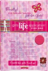 NLT Girls Life Application Study Bible - Pink Leather