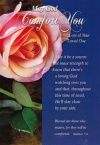 Card - Sympathy - May God Comfort You in the Loss of Your Loved One with KJV Text