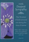 Card - Sympathy - With Deepest Sympathy with KJV Text