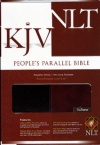 KJV / NLT - People's Parallel Edition, Walnut / Burgundy