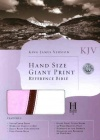 KJV Hand Size Giant Print Reference Bible Pink & White Simulated Leather