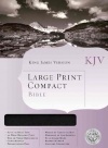 KJV Large Print Compact Bible Black Bonded Leather