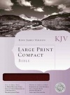 KJV Large Print Compact Bible, Burgundy Bonded Leather