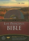 NASB Charles Stanley Life Principles Bible, Burgundy Bonded Leather