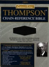 NASB Thompson Chain Reference: Bonded Leather - Black
