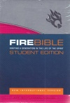 NIV Fire Bible Student Edition Grey / Pink Flexisoft