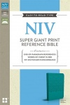 NIV Super Giant Print Reference Bible Turquoise