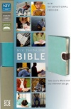 NIV - Thinline Bible, Duo-Tone, Turquoise/Chocolate