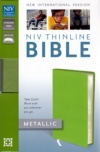 NIV - Thinline Metallic Collection Bible, Green