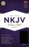 NKJV - Deluxe Gift Bible, Black LeatherTouch