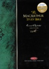 NKJV - MacArthur Study Bible, Burgundy Genuine Leather
