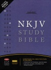 NKJV Study Bible Bonded Leather Black