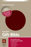 NLT Compact Gift Bible - Burgundy Bonded Leather