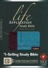 NLT Life Application Study Bible Personal Size, Dark Brown / Teal