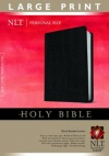 NLT - Personal Size Bible - Large Print, Black Bonded Leather