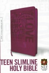 NLT - Teen Slimline Bible Hot Pink, 1 Corinthians 13