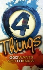 Tract - 4 Things God Wants You to Know  (100 Pack)