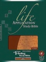 NLT Life Application Study Bible NLT, TuTone, Brown / Ostrich Tan