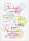 Card - I Am Deeply Loved - Ephesians - 10011C6