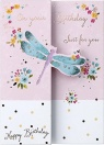 Birthday Card - Pretty Dragonfly; Ladies Birthday Card