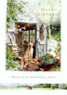Birthday Card - Garden Day with Dog - S166