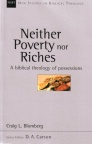 Neither Poverty or Riches - NSBT