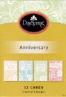 Anniversary Cards, Through the Years - (Box of 12 Cards)