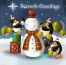 Christmas Cards - Seasons Greetings Penguins - Pack of 10 Cards - CMS