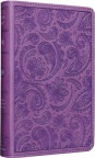ESV Compact Bible TruTone Purple Paisley Design