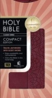 KJV - Classic Compact Bible, Burgundy Leathersoft with snap-flap